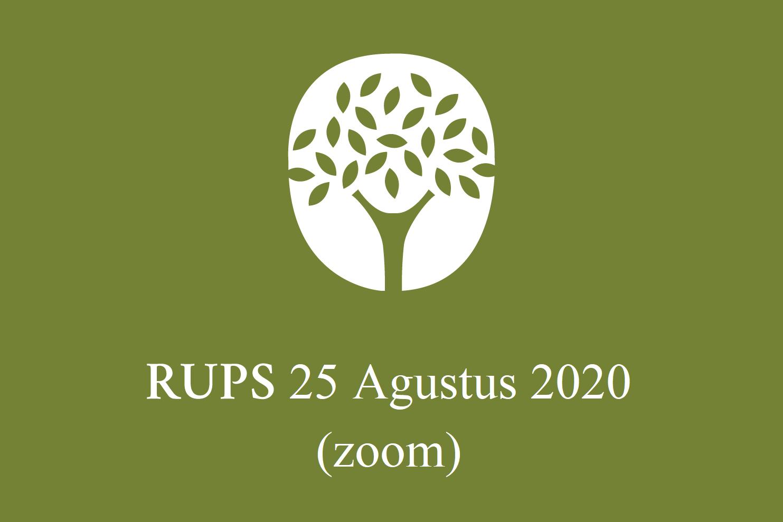 RUPS 25 Agustus 2020 (ZOOM)
