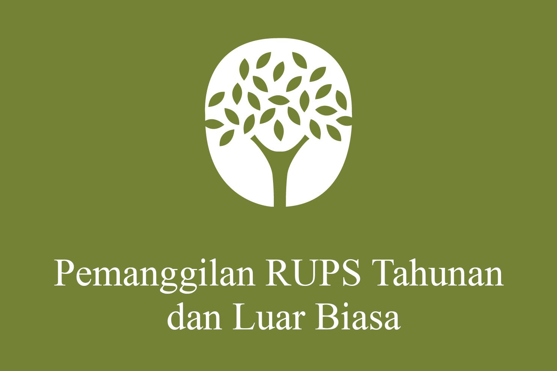 Pemanggilan RUPST dan RUPSLB 2021