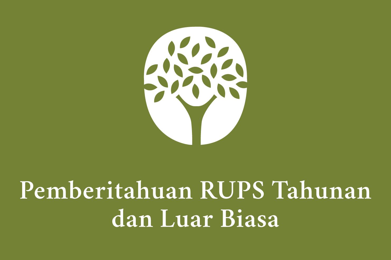 Pemberitahuan RUPST dan RUPSLB 2021